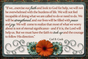 Look Up. Elder Carl B. Cook of the Seventy. The Church of Jesus Christ ...