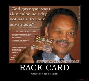 TheWriteAmerica Image Jesse Jackson Race Card Quote