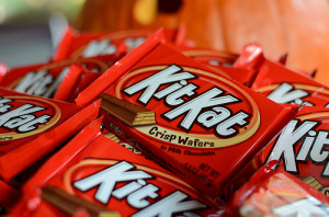 chocolate Halloween candy kit kat