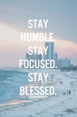 Stay blessed!