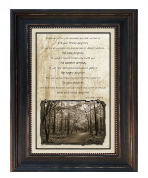 Mother Teresa Quote Framed Wall Art