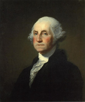 George Washington (1732-1799), first president of the United States of ...