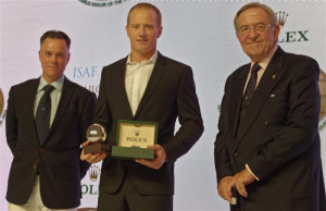 James Spithill AUS male winner of the 2014 ISAF Rolex World Sailor