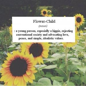 tumblr hippie vintage flower child sunflower