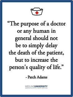 ... increase the person's quality of life.