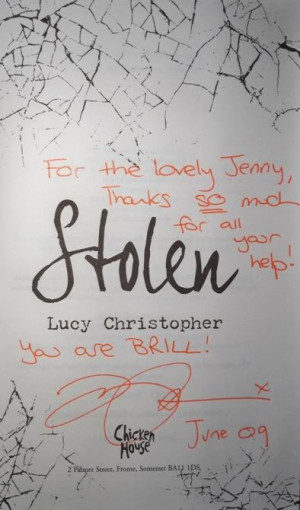 Report & Pics: Lucy Christopher Stolen Q&A, Signing & Book Club