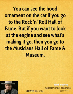 You can see the hood ornament on the car if you go to the Rock 'n ...