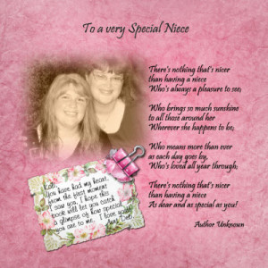 Special Niece Poems Better ideas?