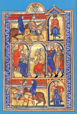 Journey of the Magi , from a 13th-century missal in the collection of ...