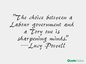 lucy powell quotes the choice between a labour government and a tory ...