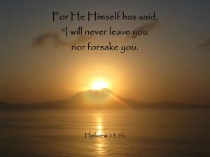 Hebrew 13.5b Bible Verse