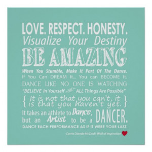 carries_wall_of_inspirational_dance_quotes_aqua_poster ...