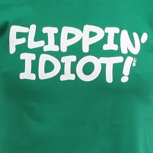 ... quote from Napoleon Dynamite printed on a great fitting tee. Lucky