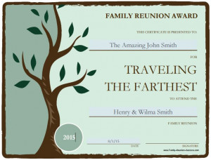 Use these free printable awards for fun family reunion activities ...
