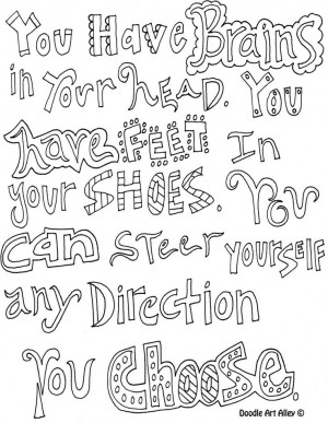 Art Therapy Quote Coloring Sheet Empowering - Internal Locus of ...