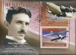 Details about Togo 2010 Stamp TG10125B Henri Coanda Inventor
