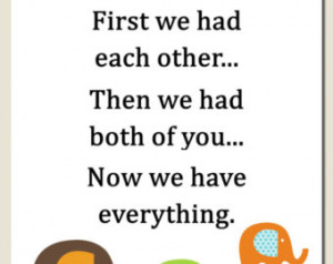 Twin Quotes Boy And Girl Kids wall art, baby boy