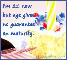 Saya 21 tahun sekarang, tetapi usia tidak memberi jaminan untuk ...