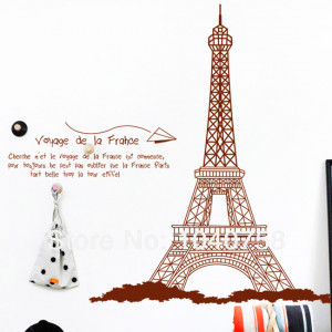Large-Eiffel-Tower-Decoration-Wall-Stickers-Home-Decor-Paris-Poster ...