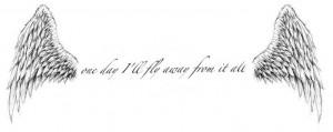 Wing/quote tattoo | tattoos | Pinterest