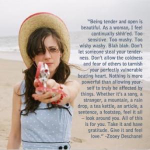 Zooey Deschanel on tenderness