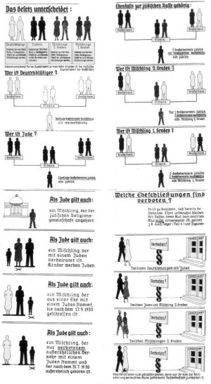 The Nazis distributed charts like this one to educate the public about ...