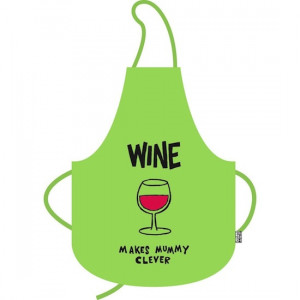 Home :: Funny Aprons :: Wine Makes Mummy Clever Funny Cooking Apron