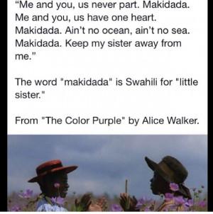 The Color Purple #makidada