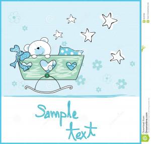 Baby Boy Arrival Card Stock