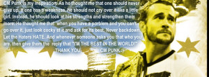 CM Punk is my inspiration by MasroorWCW