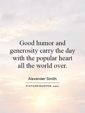 Generosity Quotes Alexander Smith Quotes