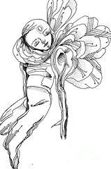 Fallen Angel Drawings Prints - My Pterodactyl Angel Prints by Erja ...