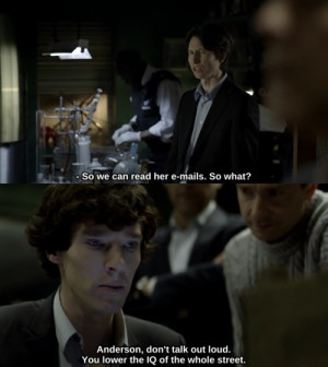 Tags: anderson sherlock quotes