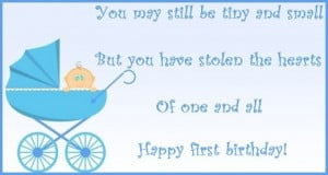 First birthday wishes and poems: Messages to write on a first birthday ...