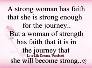 strong woman has faith that ...