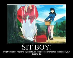 Inuyasha -Sit Boy! dog training