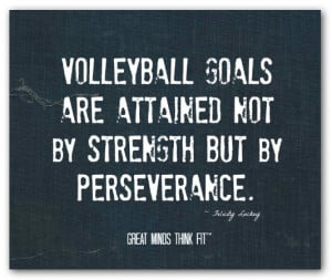volleyball quote 009 volleyball goals are attained not by strength but ...