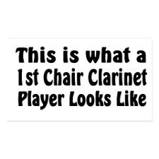 Funny Clarinet Business Cards