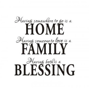 Home Family Blessing Wall Quote Sticker Decals Removable Art Mural ...