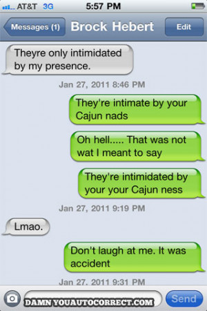 funny auto-correct texts - Spicy