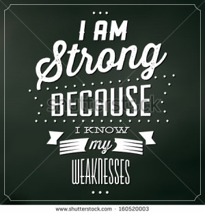 Quote Typographic Background / I Am Strong Because I Know My ...