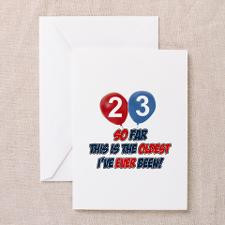 23 year old birthday gift ideas greeting card for