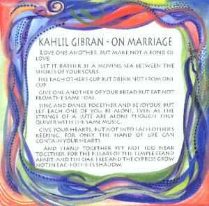 On Marriage Kahlil Gibran quote (8x8) - Heartful Art by Raphaella ...