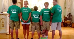 ... Easton is seated in the front wearing his Vacation Bible School shirt