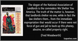 The slogan of the National Association of Landlords is the commaless ...