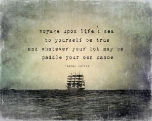 voyage upon life's sea
