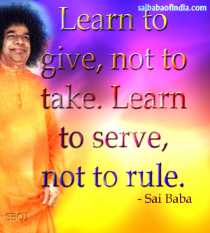 sathay Sai Baba Quotes with pictures - sayings of sathya sai baba