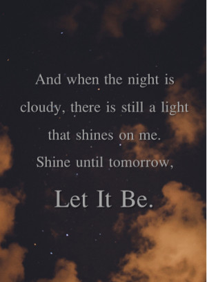 ... let it be # the beatles # paul mccartney # request # beatles lyrics