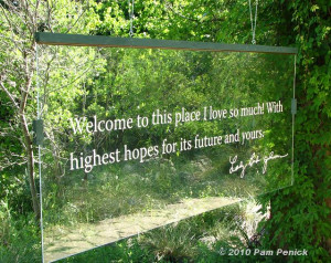 quote from Lady Bird Johnson , co-founder of the Wildflower Center ...