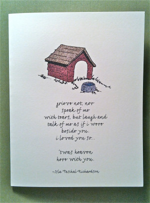 Dog Loss Quotes Color - loss of pet - grieve
